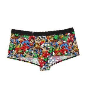 Torrid Superhero BoyShort Panty NWT Cartoon Lace